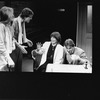 "Actress/director Lee Grant (C) working with unidentified actors during a rehearsal for the NY Shakespeare production of the play ""A Private View"""