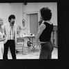 "(L-R) Choreographer Gillian Lynne and director Trevor Nunn talking with dancer Terrence Mann during a rehearsal of the Broadway production of the musical ""Cats."""