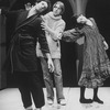 "Director Andrei Serban (C) working with actor F. Murray Abraham and an unidentified actress on a workshop at the NY Shakespeare Festival for the play ""The Master And Margarita""."