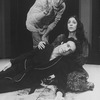 "Director Andrei Serban (T) working with actor F. Murray Abraham and an unidentified actress on a workshop at the NY Shakespeare Festival for the play ""The Master And Margarita""."