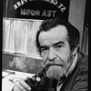 """Playwright Athol Fugard with a pipe in his mouth on the set of the Broadway production of his play """"Master Harold...And The Boys"""""""