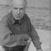 """Theater director Peter Brook on the set of the Broadway production of the opera """"La Tragedie De Carmen.""""."""