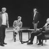Director Jose Quintero (L) working with actor Richard Thomas (2L) and two unidentified actors at the Circle In The Square Theatre.