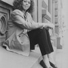 Actress/playwright Anna Deavere Smith sitting outside the Joseph Papp Public Theatre.