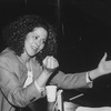 Actress/playwright Anna Deavere Smith making a fist.