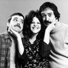 "(L-R) Actors Brian Doyle Murray, Gilda Radner and Joe Flaherty of the Off-Broadway production of the play ""National Lampoon's Lemmings."""