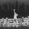 "Actress Liza Minnelli (C) performing a musical number with dancers incl. future choreographer Wayne Cilento (3R) in a scene from the Broadway production of the musical ""The Act"""