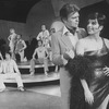 """Actors Liza Minnelli and Barry Nelson (R-2R) with dancers incl. future choreographer Wayne Cilento (6L) in a scene from the Broadway production of the musical """"The Act"""""""