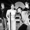 """(L-R) Actors Barry Nelson, Liza Minnelli and Arnold Soboloff in in a scene from the Broadway production of the musical """"The Act"""""""