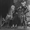 "Robert Fitch (as Rooster Hannigan), Dorothy Loudon (as Miss Hannigan) and Barbara Erwin (as Lily St. Regis) in the ""Easy Street"" scene of the stage production Annie"