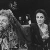 "Actress Irene Papas holding a decapitated head in a scene from the Circle In The Square production of the play ""The Bacchae"""