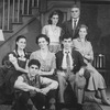 "Actors Jonathan Silverman (2L), Elizabeth Perkins (C), Mark Nelson (3R), Charles Cioffi (2R) and Joan Copeland (R) in a scene from the Broadway production of the play ""Brighton Beach Memoirs.""."