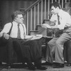 """(R-L) Actors Mark Nelson and Charles Cioffi in a scene from the Broadway production of the play """"Brighton Beach Memoirs.""""."""