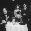 "Actors Eli Wallach (L), Bob Dishy (2L), Anne Jackson (3R) and David Carroll (2R) in a scene from the Broadway revival of the play ""Cafe Crown.""."