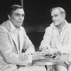 "(L-R) Actors Peter Marshall and Walter Charles in a scene from the Broadway production of the musical ""La Cage Aux Folles."""