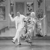 "(L-R) Actors Peter Marshall and Walter Charles (in drag) in a scene from the Broadway production of the musical ""La Cage Aux Folles."""