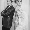 """(L-R) Actors Gene Barry and Walter Charles (in drag) in a scene from the Broadway production of the musical """"La Cage Aux Folles."""""""