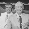 """(L-R) Actors George Hearn and Van Johnson in a scene from the Broadway production of the musical """"La Cage Aux Folles."""""""
