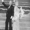"(L-R) Actors Keith Michell and George Hearn (in drag) in a scene from the Broadway production of the musical ""La Cage Aux Folles."""
