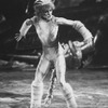 "A performer in a scene from the Broadway production of the musical ""Cats."""