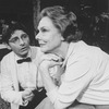 """Actress Irene Worth (R) in a scene from the Roundabout Theatre revival of the play """"The Chalk Garden.""""."""