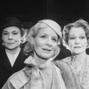 """Actresses Irene Worth (L) and Constance Cummings (R) in a scene from the Roundabout Theatre revival of the play """"The Chalk Garden.""""."""