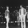 "Actors Robert LuPone and Donna McKechnie in a scene from the Broadway production of the musical ""A Chorus Line.""."