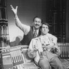 "(L-R) Actors Rene Auberjonois and Greg Edelman in a scene from the Broadway production of the musical ""City Of Angels"""