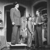 """(L-R) Actors Herschel Sparber, Raymond Xifo and James Naughton in a scene from the Broadway production of the musical """"City Of Angels"""""""