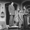 "(L-R) Actors Herschel Sparber, Raymond Xifo and James Naughton in a scene from the Broadway production of the musical ""City Of Angels"""
