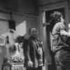 """(L-R) Actors Burt Young, Ralph Macchio and Robert DeNiro in a scene from the NY Shakespeare Festival production of the play """"Cuba And His Teddy Bear.""""."""