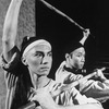 "(L-R) Actors John Lone and Tzi Ma in a scene from the NY Shakespeare Festival production of the play ""The Dance And The Railroad.""."