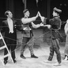 "Members of the Mabou Mines group performing a scene from the NY Shakespeare Festival production of the play ""Dead End Kids."""