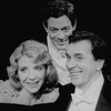 """(L-R) Actors Jill Clayburgh, Raul Julia and Frank Langella in a scene from the Circle In The Square revival of the play """"Design For Living.""""."""