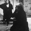 "(L-R) Actors Frank Langella and Jerome Dempsey in a scene from the Broadway revival of the play ""Dracula"""