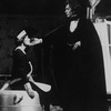"""Actors Frank Langella and Gretchen Oehler in a scene from the Broadway revival of the play """"Dracula"""""""