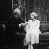 """(R-L) Actors Ann Sachs, Alan Coates and Jerome Dempsey in a scene from the Broadway revival of the play """"Dracula"""""""