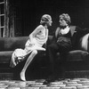 "Actors Ann Sachs and Alan Coates in a scene from the Broadway revival of the play ""Dracula"""