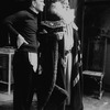 """(L-R) Actors Tom Courtenay and Paul Rogers in a scene from the Broadway production of the play """"The Dresser.""""."""