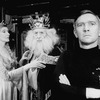 """(R-L) Actors Tom Courtenay, Paul Rogers and Rachel Gurney in a scene from the Broadway production of the play """"The Dresser.""""."""