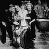 """(L-R) Actors Tom Courtenay, unidentified, Paul Rogers, Marge Redmond and Lisabeth Bartlett in a scene from the Broadway production of the play """"The Dresser.""""."""