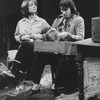"Actresses (L-R) Pamela Reed and Linda Griffiths in a scene from the NY Shakespeare Festival production of the play ""Fen.""."