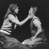 "Actresses (L-R) Ellen Parker and Pamela Reed in a scene from the NY Shakespeare Festival production of the play ""Fen""."