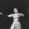 """Actress Yvonne DeCarlo in a scene from the Broadway production of the musical """"Follies.""""."""