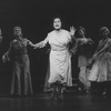 """Actress Mary McCarty (C) in a scene from the Broadway production of the musical """"Follies.""""."""
