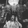 "Actor Keith Jochim as the Creature in a scene from the Broadway production of the play ""Frankenstein.""."