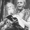 "(L-R) Actors John Carradine and Keith Jochim as the Creature in a scene from the Broadway production of the play ""Frankenstein.""."