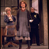 "Actresses Andrea McArdle as Annie (C) and Dorothy Loudon as Miss Hannigan (L) with a policeman in a scene from the Broadway production of the musical ""Annie.""."