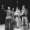 """(L-R) Actors Colleen Dewhurst, Ray Fry, Sydney Walker and Philip Bosco in a scene from the Repertory Theater of Lincoln Center production of the play """"The Good Woman Of Setzuan""""."""