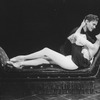 """Actors David Carroll and Liliane Montevecchi in a scene from the Broadway production of the musical """"Grand Hotel""""."""
